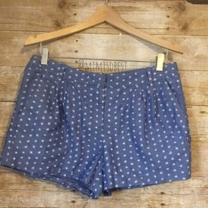 J. Crew brush dot shorts